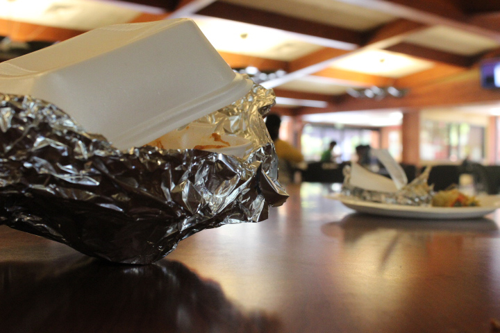 Food and trash left over in the cafeteria by students is a never ending story on campus. Tony Wallin | dylanwaittswallin.express@gmail.com