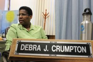City College Professor Debra Crumpton at her desk.