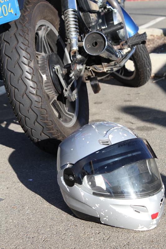 A motorcycle helmet.
