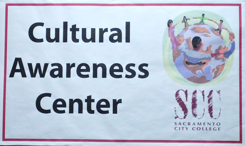 A sign of the Cultural Awareness Center.
