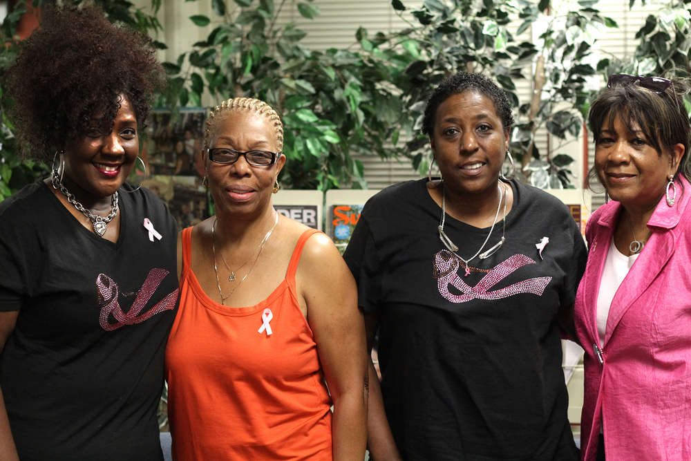 Rev. Tammie Denyse, Gloria Moody, Denise Elarms and Victoria Henderson came to support and speak about breast cancer during Breast Cancer Awareness month inside the Cultural Awarness Center.  Evan E. Duran   evaneduran@gmail.com
