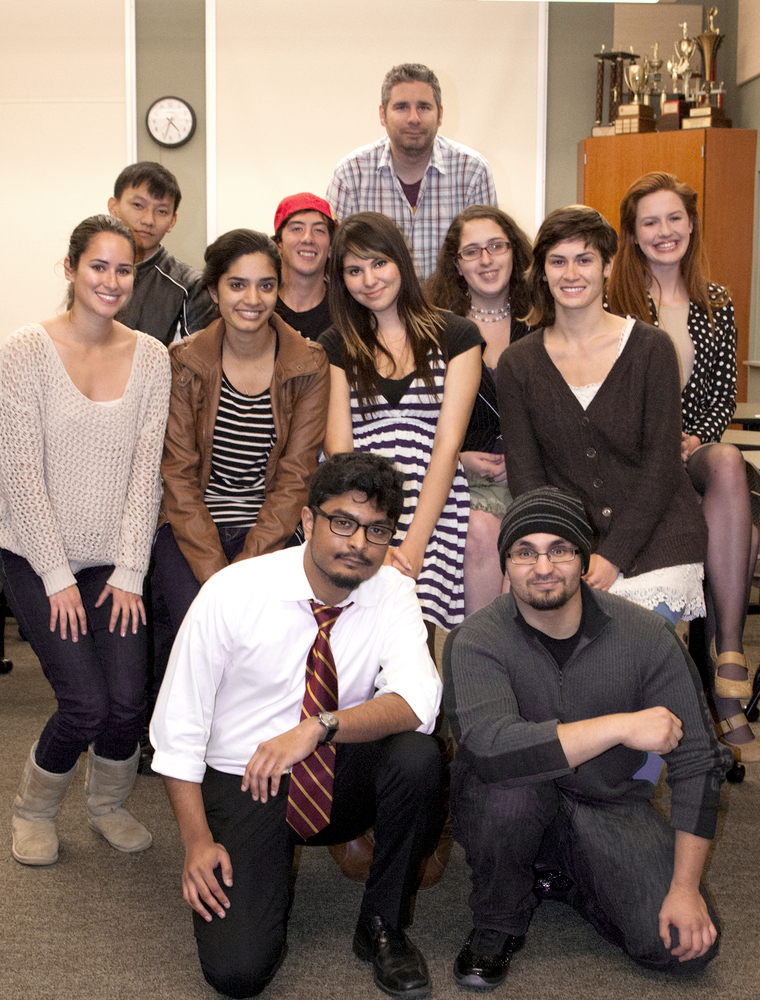 The Los Rios Debate Team finished first in California last season and ranked second among community colleges in the entire nation.  The team is (beginning with the first row, left to right):  Aninda Chowdhury, Mohamed Umbashi, Natalie Lenhart, Noreen Javed, Sharaya Souza, Rebecca Silva, Meng Vue, Michael Edwards, Jared Anderson, Sara Beth Brooks, Olivia Gover.  Kate Paloy | katepaloy.express@gmail.com