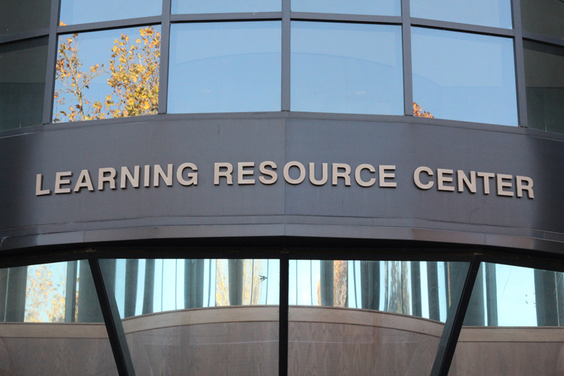 A sign for the Learning Resource Center.
