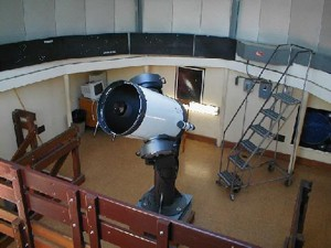 A telescope from the City College Observatory.
