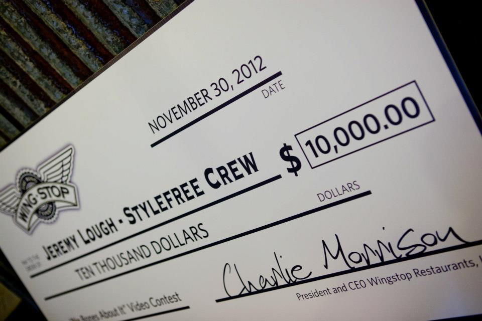 Amanda Oliver is part of StyleFree Crew, who won the WingStop commercial contest of $10,000. Photo Courtesy of WingStop's Facebook page.