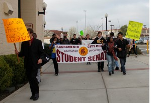 PICTURE OF THE DAY – 3/1/13 City College students gather on campus, heading to the light rail station to join the March In March. | Nicole Hernandez-Tapia | htfamily@live.com