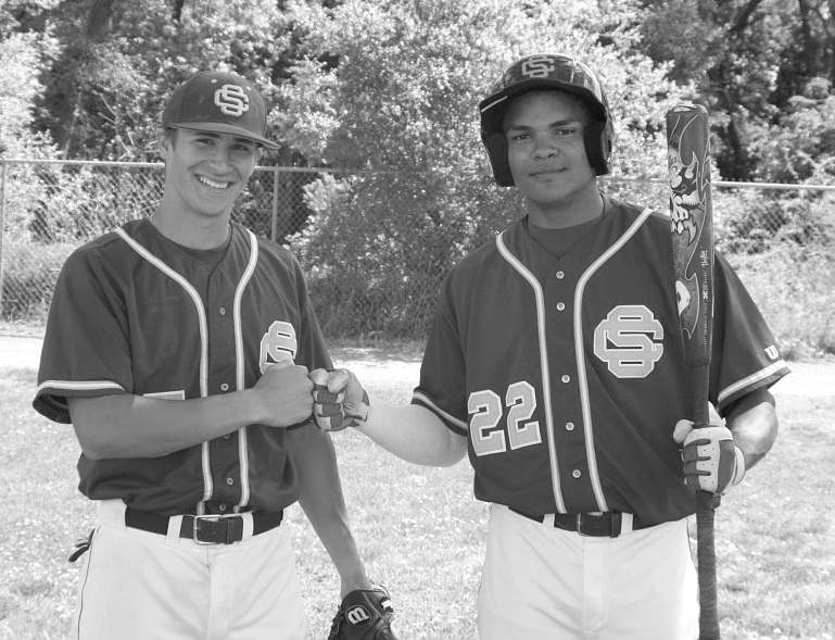 City College Panthers shortstop Jorge Viña (left) and out fielder Jared James both have relatives who play major league ball
