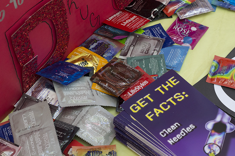 PICTURE OF THE DAY – 4/25/13 Condoms, lubrication, and literature are just some of the things being passed out at the City College's sixth annual health fair located in the quad.  Evan E. Duran | evaneduran@gmail.com
