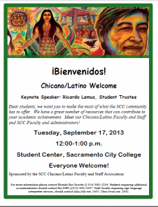 Chicano/Latino welcome 9/17