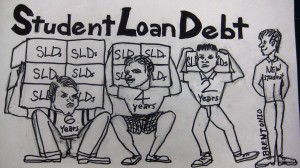 The debt of college education
