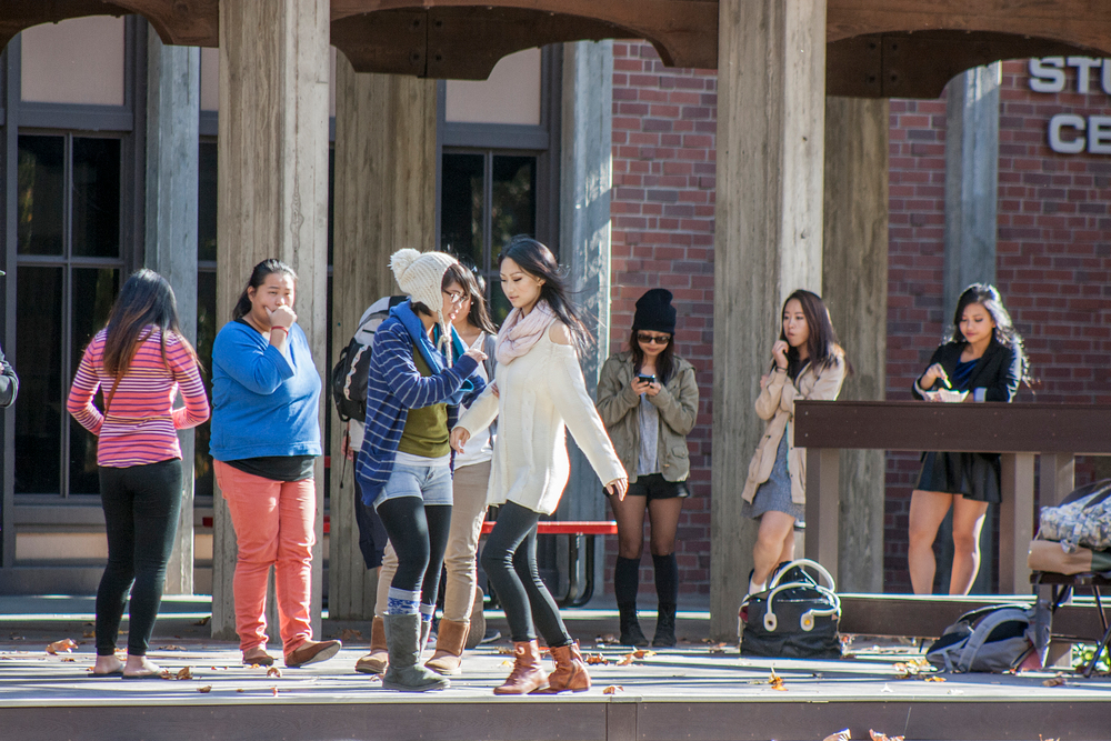 City College students rehearsing in the Quad Nov. 15 for an upcoming Nov. 26 Hmong culture show. 