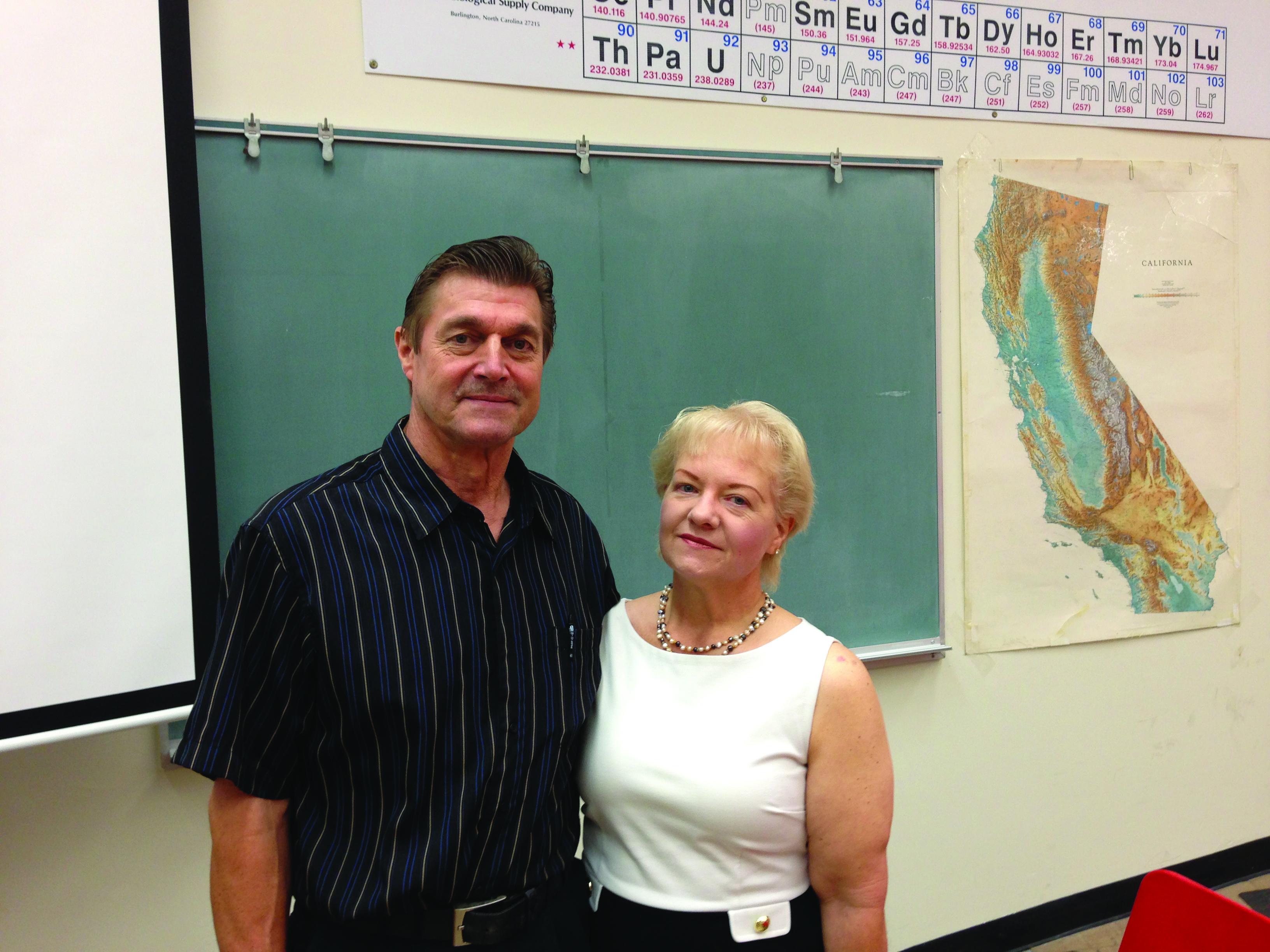 """Professor Lois Zeimet with her husband, Stewart, who she calls """"my hero, my rock."""" Photo courtesy of Lois Zeimet."""