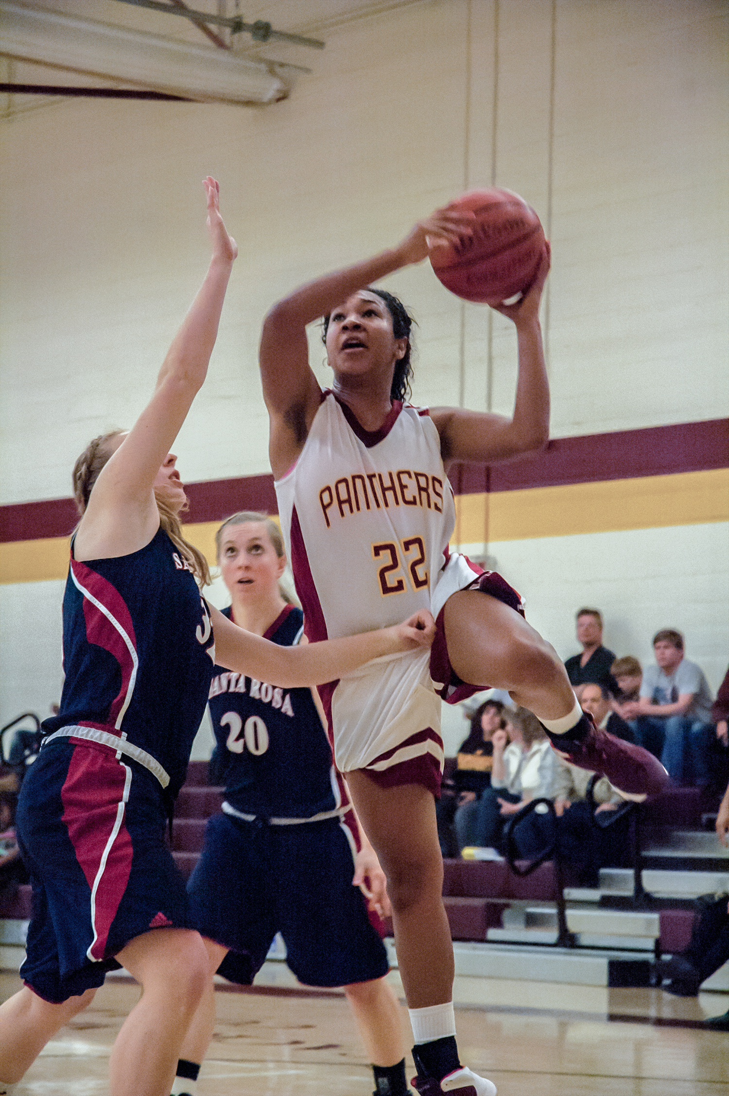 Panthers forward Brittney Harper goes up for a layup in Jan. 17 loss to Santa Rosa.