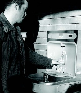 New drinking fountain helps save planet
