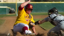 Panthers' infielder Timothy Hall is safe at home Feb. 22 when City College's baseball team defeated Butte College's Mustangs Feb. 22. The Panthers' victory marked a three-for-three winning streak against the Roadrunners. Tamara M. Knox| Online Photo Editor | tmrknox@gmail.com