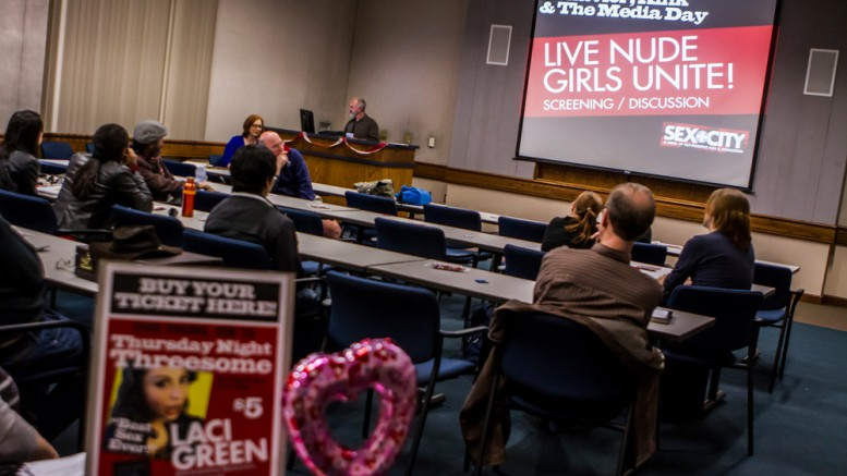 Sex + City (Sexual Behaviors , Kink, & the Media Day  - Live Nude Girls Unite!    Film screening and discussion lead by Professor Sherrie Patton in the  Learning Resource Center 105 at 3 pm.