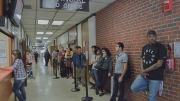 City College students wait in line in Rodda North May 12 for their turn at the Financial Aid window to discuss matters pertaining to their individual costs for higher education. Luisa Morco | Staff Photographer | luisamorco.express@gmail.com