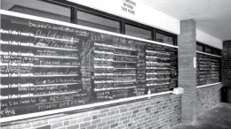 City College holds a project called, 'Before I die,' where students are allowed to write out their wish. The chalkboard is held outside of City Cafe, and the board gets erased daily. Emily Foley | Photo Editor | emmajfoley@gmail.com