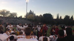 Panther's Head Coach Dannie Walker addresses team after East Bay Bowl Game win. Photo by Kristopher Hooks | Features Editor | khooksexpress@gmail.com