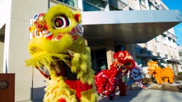 Eastern Ways Martial Arts preforming a lion dance to celebrate Chinese New Year at Sacramento City College's West Sacramento Campus's Five Year Anniversity Jan 29. Luisa Morco | Staff Photographer | luisamorco.express@gmail.com