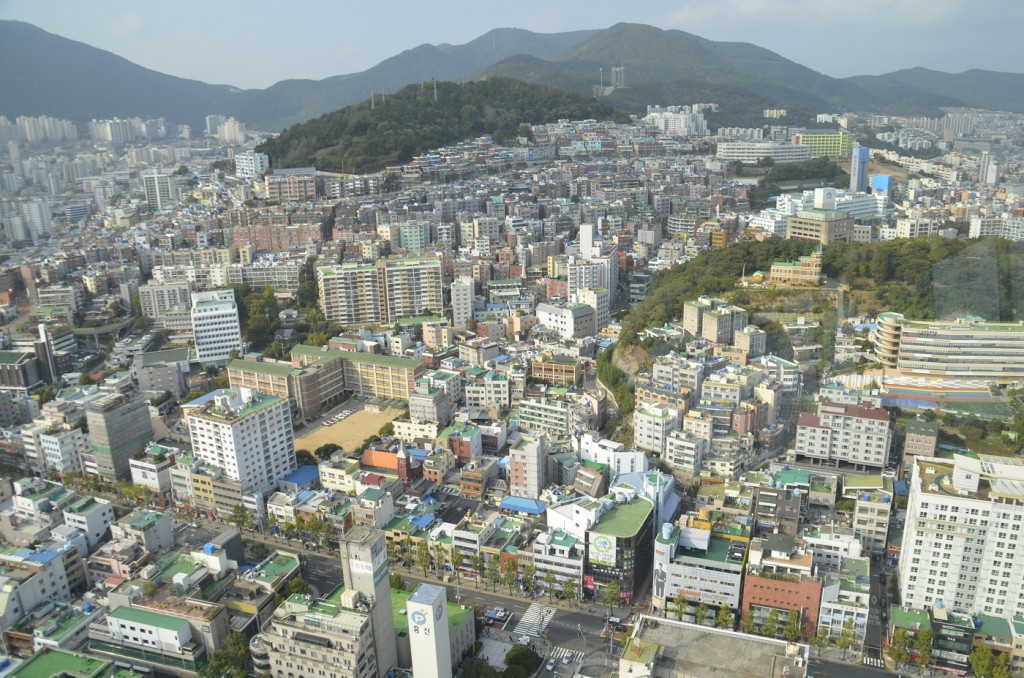 The Busan Tower offers expectacular views of Busan, South Korea. Photo by Elizabeth Ramirez.