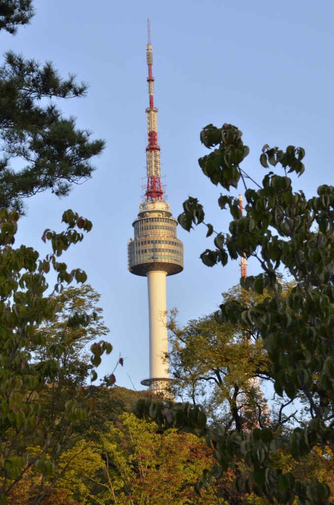 N Seoul Tower is one of Seoul, South Korea's most popular tourist attraction. Individuals can enjoy local snacks while mingling with friends and family. Photo by Elizabeth Ramirez.