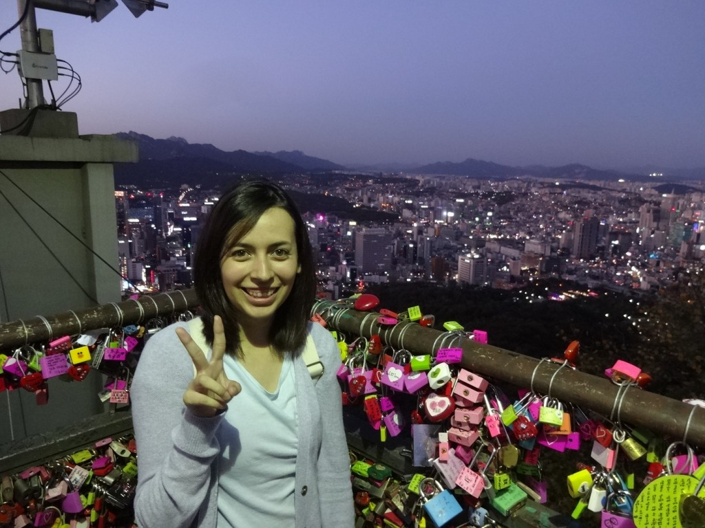 N Seoul Tower is one of Seoul, South Korea's most popular tourist attraction. Individuals can enjoy the many picturesque views of Seoul while eating local snacks. Photo by Elizabeth Ramirez.