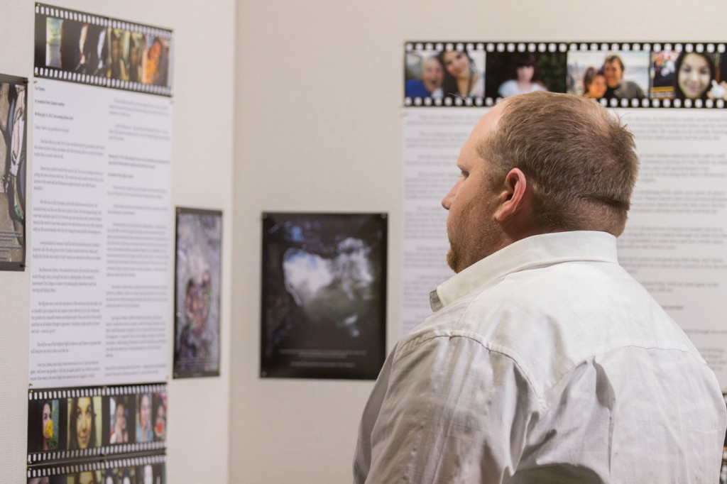 Family, friends, faculty and students gather on the second floor of the new Student Services building at City College for the opening of the Emma Photo Exhibit Nov. 12, 2015. It is a combination of work from students and the late Emma Foley who was a cherished friend and student at City College. The show will run until the end of the the Fall semester. Vanessa S. Nelson |Photo Editor | vanessanelsonexpress@gmail.com