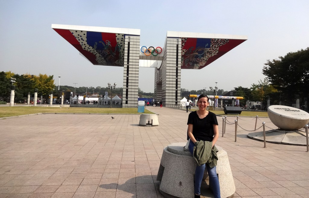Olympic Park was built to commemorate the 1988 Olympics held in South Korea. Photo by Elizabeth Ramirez.