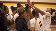 City College celebrates in the come back win against Delta College in the North Gym on Jan. 15th.  Photos by Dianne Rose
