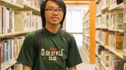 City College student Eric Ngai, biochemistry major, poses for a photo in the City College library. April 27, 2016. Hector Flores, Staff Photographer. | hectorfloresexpress@gmail.com