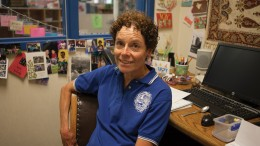 Laurie Perry, SCC child development coordinator, sits at her desk in her office. (Photo Courtesy: Vanessa Nelson)