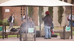City College students gathered in the designated smoking area provided for them on campus. Photos by Vanessa S. Nelson | Photo Editor | vanessanelsonexpress@gmail.com