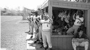Jerry Weinstein standing outside the dugout in the 1980s, before Union Stadium was built. Weinstein was inducted Oct 14. into the LaSalle Club's Sacramento Baseball Hall of Fame. Photo Courtesy of SCC Special Collections.