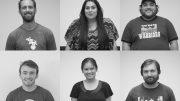 Top row: Neill Little - Editor-inCheif, Vanessa S. Nelson - Photo Editor, Ricardo Lopez - Sports Editor  Second row: Maxfield Morris - Features Editor, Eliza Caliolio - News Editor, Will Coburn - Assistant News Editor