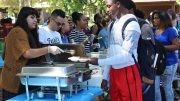 City College students receive free food in the Quad as part of the Welcome Day celebration from last year. The barbecue and campus welcome will take place Sept. 7 from 10 a.m. to 6:30 p.m. Julie Jorgensen | juliejorgensenexpress@gmail.com