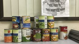 City College students gave donations  to the cosmetology department's Food for Beauty canned food drive.  Sonora Rairdon | Staff Photographer | sonorarairdonexpress@gmail.com