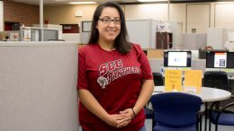 Known for her Superwoman work ethic and love for helping others, Yolonda Ramirez, City College Career Center Counselor and former student, guides students in finding their passions. Ramirez helps students to explore academic majors and other interests they may have.  Cameron Richtik | cameronrichtikexpress@gmail.com