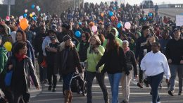 Thousands marched together for the 26th annual MLK365 march in honor of Dr. Martin Luther King Jr. The march began at Sacramento City College and ended six miles away at the Sacramento Convention Center. Vanessa S. Nelson | Photo Editor | vanessanelsonexpress@gmail.com