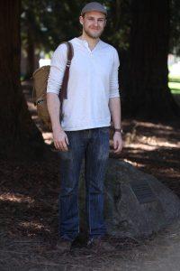 Daniel Patton, 24, likes basic flair fashion and wears whatever makes him feel comfortable.