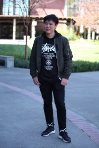 Leo Liu, 20, is a mathematics major. He likes to focus on neutral tones and smartly matches white grey and black hues for the ultimate modern look. Ulysses Ruiz | Staff Photographer | Uruiz.express@gmail.com