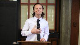 Student Senator Tristan Rogers is a motivational speaker. Photo by Ulysses Ruiz | uruiz.express@gmail.com