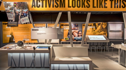 "The ""Activism Looks Like This"" exhibit in the Unity Center at the California Museum. The center opens Aug. 26 and kicks off with a civil rights panel discussion along with other festivities. Photo by Robert Durell, courtesy of the California Museum."