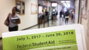 Students get help at the Financial Aid Office in Rodda Hall North. The BOG Fee Waiver, which provides qualifying students with help covering enrollment fees, is being renamed the Promise Grant. | Photo by Jiaxin Lu · jlu.express@gmail.com