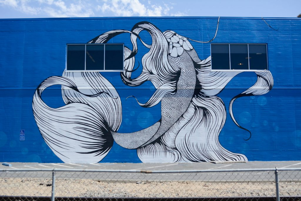 A section of the mural painted by Sacramento artist Maren Conrad, located at 1050 20th St. (Mars Building). Jason Pierce   Photo Editor   jpierce.express@gmail.com