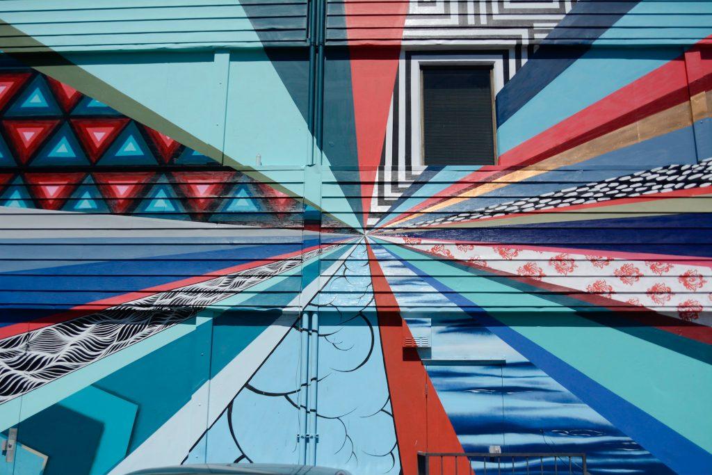 A section of the mural painted by Sacramento artist Jeremiah Kille, located at 1900 K St, Sacramento. Jason Pierce   Photo Editor   jpierce.express@gmail.com