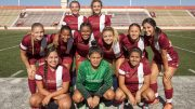 City College starters pose before the home match against De Anza College at Hughes Stadium on Aug. 25. © 2017 Dianne Rose