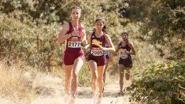 Perla Gonzalez-Rodriquez (#2005), City College freshman runs at the Big 8 Preview race at Oak Grove Regional Park on Sept. 15th . ©2017 Dianne Rose
