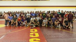Former City College wrestlers from the past several decades returned for the 38th Annual Alumni Wrestling Scrimmage Sept. 2. ©2017 Dianne Rose