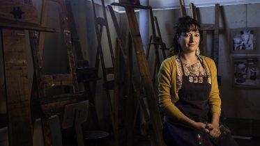 City College art professor Gioia Fonda.  Bobby Castagna   Staff Photographer   bcastagna.express@gmail.com